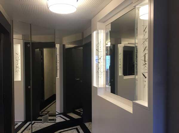 Œuvre dans le hall d'entrée d'un projet immobilier Vinci à Paris XIVème